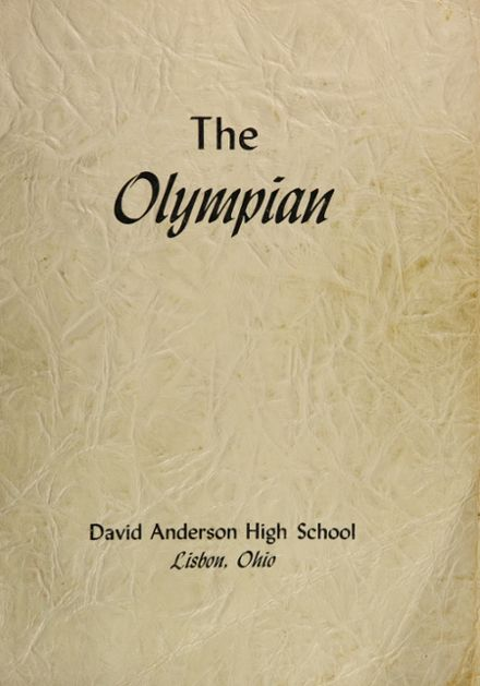 1952 David Anderson High School Yearbook Cover
