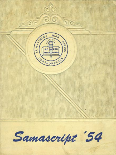 1954 St. Matthew's High School Yearbook Cover