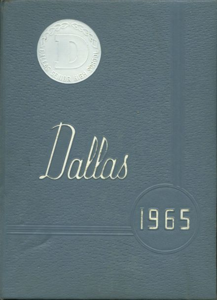 1965 Dallas High School Yearbook Cover