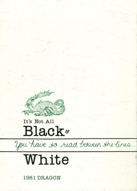 1981 Lake Orion High School Yearbook Cover