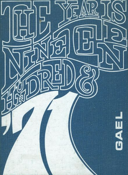 1971 St. Mary's High School Yearbook Cover