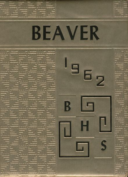 1962 Beaver Local High School Yearbook Cover