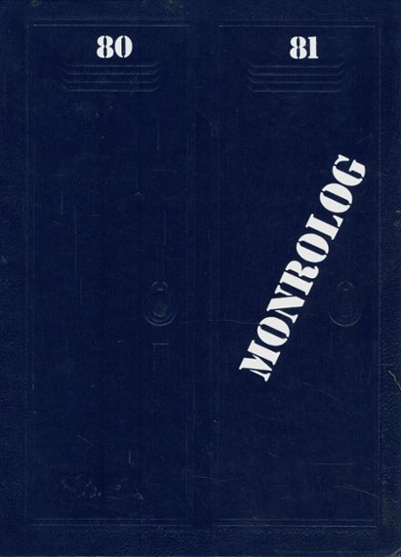 1981 Monroe High School Yearbook Cover