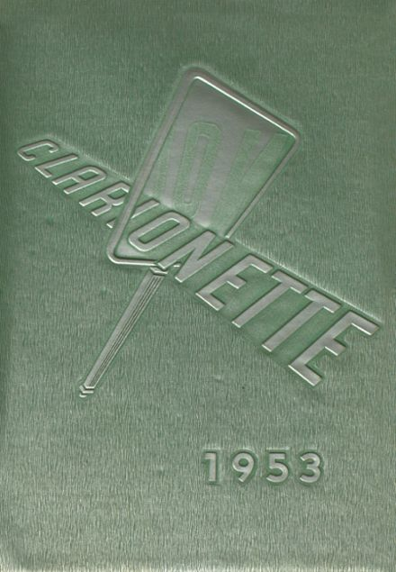1953 Clarion Area High School Yearbook Cover