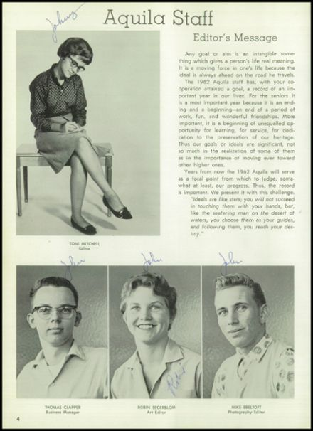 1962 Boulder City High School Yearbook Page 8