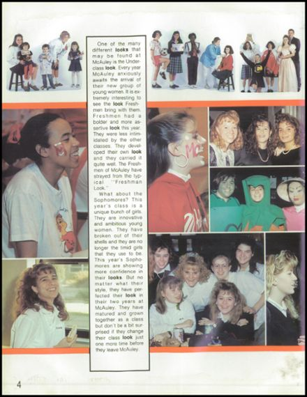426801d2bc 6 7  1990 Mother McAuley Liberal Arts High School Yearbook Page 8 ...