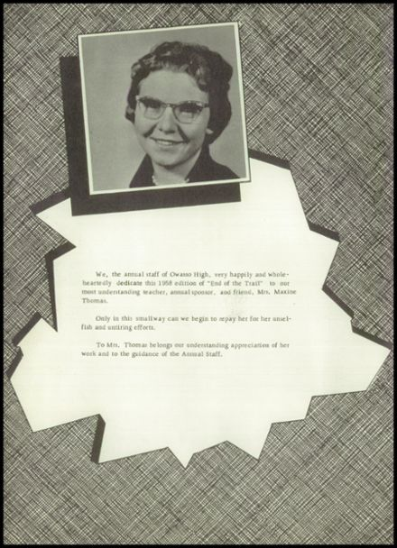 1958 Owasso High School Yearbook Page 8