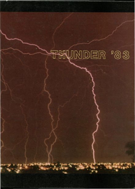 1983 Thunderbird High School Yearbook Cover