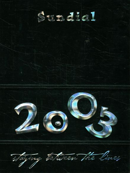 2003 Sunset High School Yearbook Cover