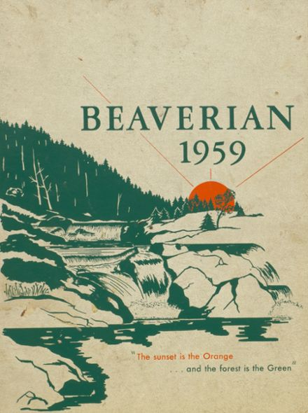 1959 Beaver River Central High School Yearbook Cover