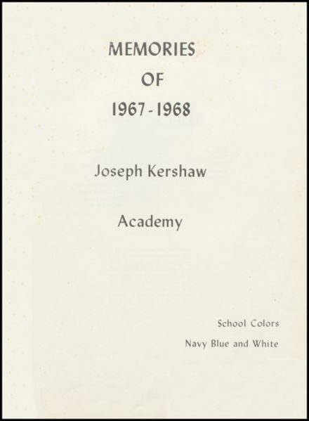 1968 Joseph Kershaw Academy Yearbook Page 3