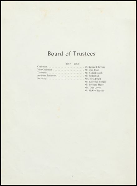 1968 Joseph Kershaw Academy Yearbook Page 4