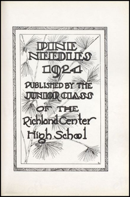 1924 Richland Center High School Yearbook Page 7