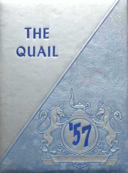 1957 Quail High School Yearbook Cover