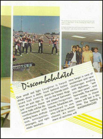 1987 Lynchburg Christian Academy Yearbook Page 7