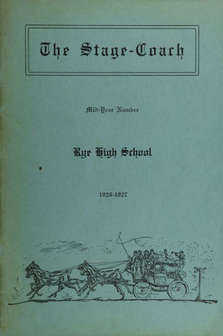 1927 Rye High School Yearbook Cover