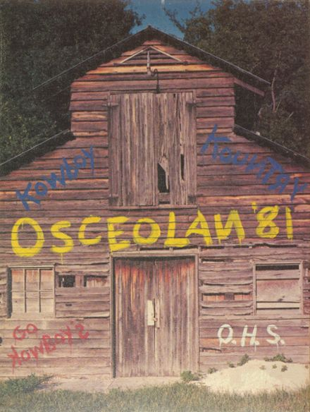 1981 Osceola High School Yearbook Cover