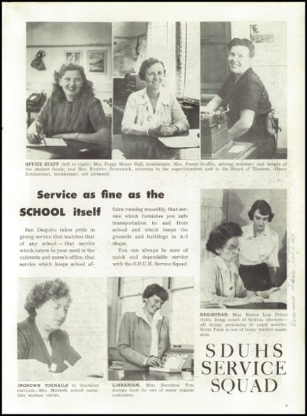 1951 San Dieguito High School Yearbook Page 5