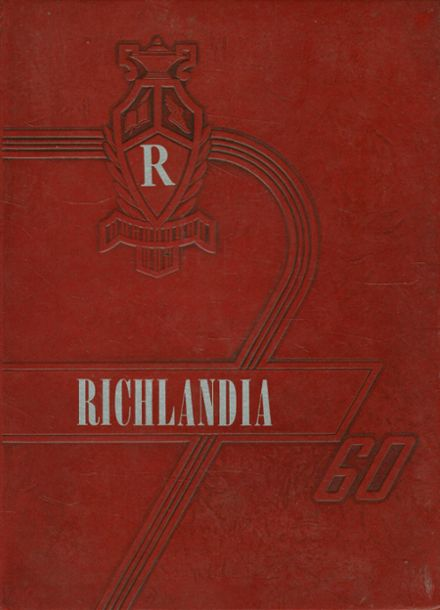 1960 Richland High School Yearbook Cover