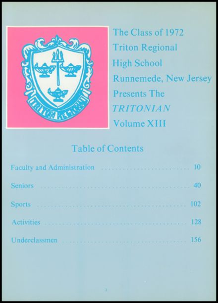 1972 Triton Regional High School Yearbook Page 7