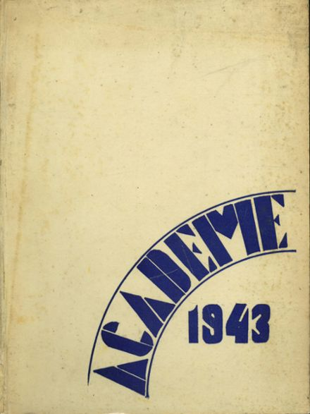 1943 Academy High School Yearbook Cover