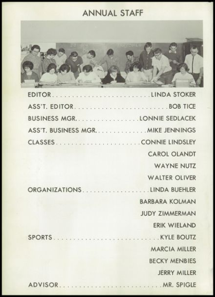 1966 Morrowville High School Yearbook Page 6