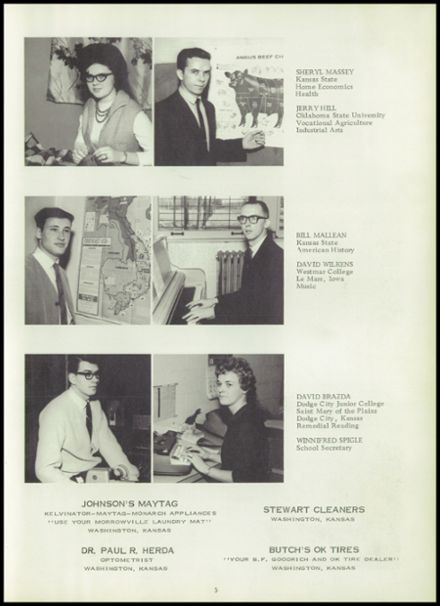 1966 Morrowville High School Yearbook Page 9