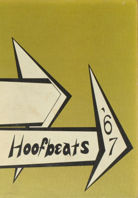 1967 Burges High School Yearbook Cover