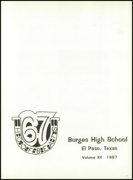 1967 Burges High School Yearbook Page 5