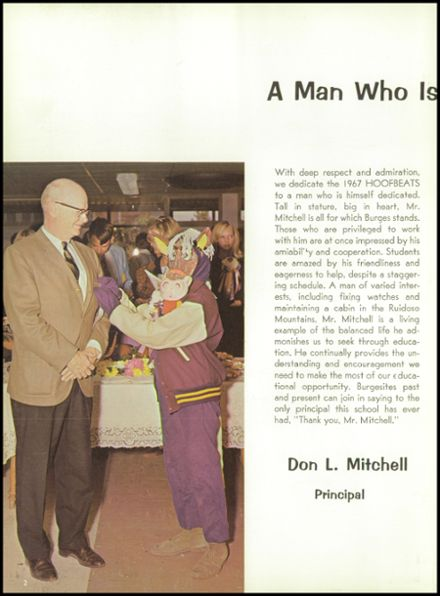 1967 Burges High School Yearbook Page 6