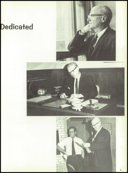 1967 Burges High School Yearbook Page 7
