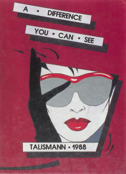 1988 Mann High School Yearbook Cover
