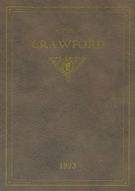 1923 Crawford County Community High School Yearbook Cover