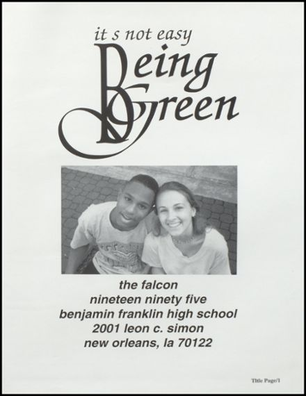 1995 Benjamin Franklin High School Yearbook Page 5