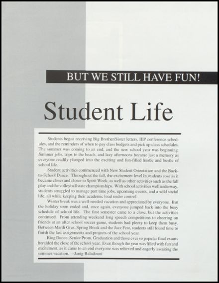 1995 Benjamin Franklin High School Yearbook Page 9