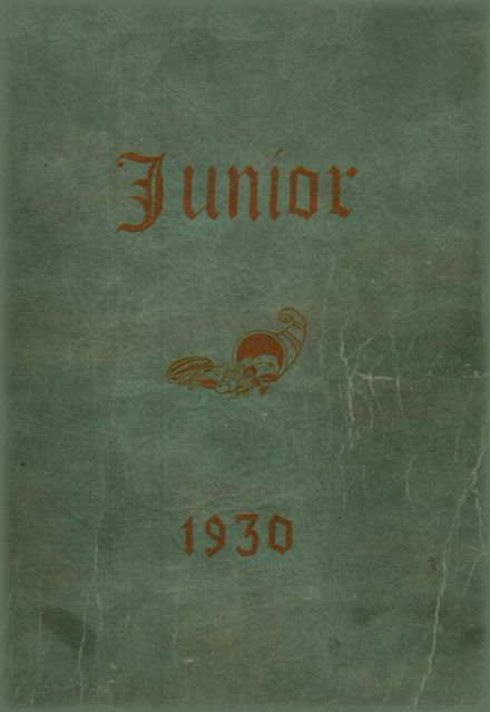 1930 Rice Lake High School Yearbook Cover