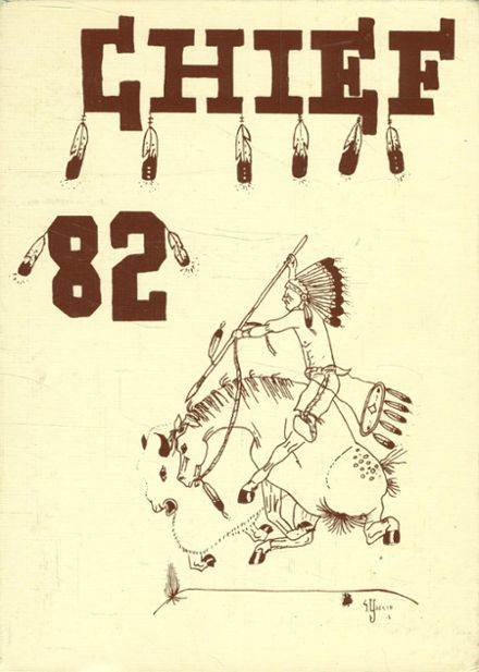 1982 Southwest Indian High School Yearbook Cover