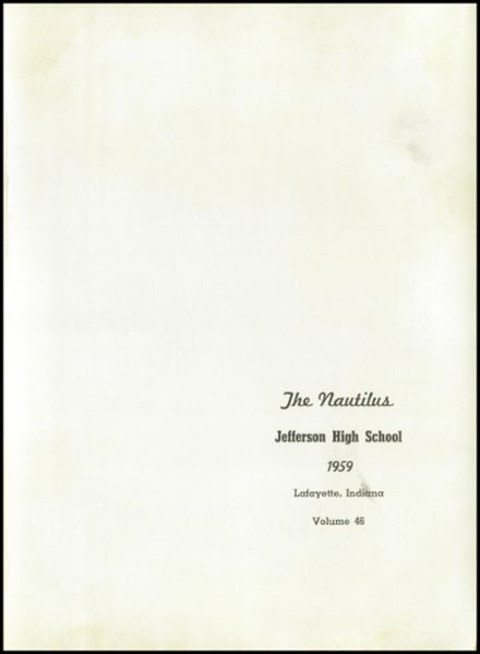 1959 Jefferson High School Yearbook Page 5