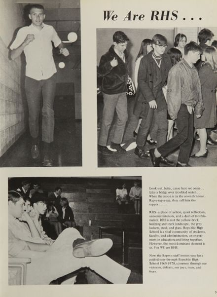 1970 Republic High School Yearbook Page 9