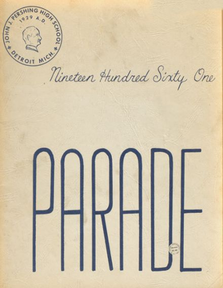 1961 Pershing High School Yearbook Cover