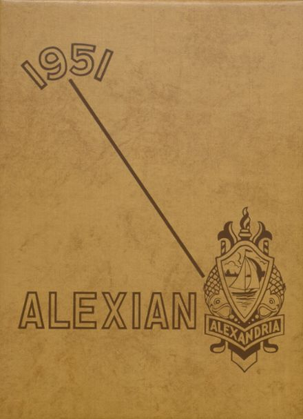 1951 Central High School Yearbook Cover