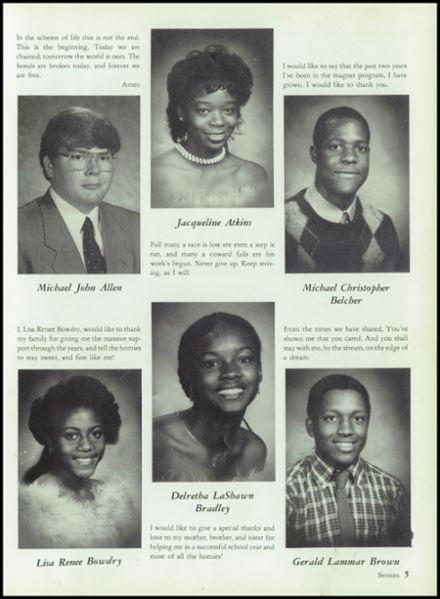 1986 King-Drew Medical Magnet High School Yearbook Page 9
