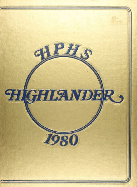 1980 Highland Park High School Yearbook Cover