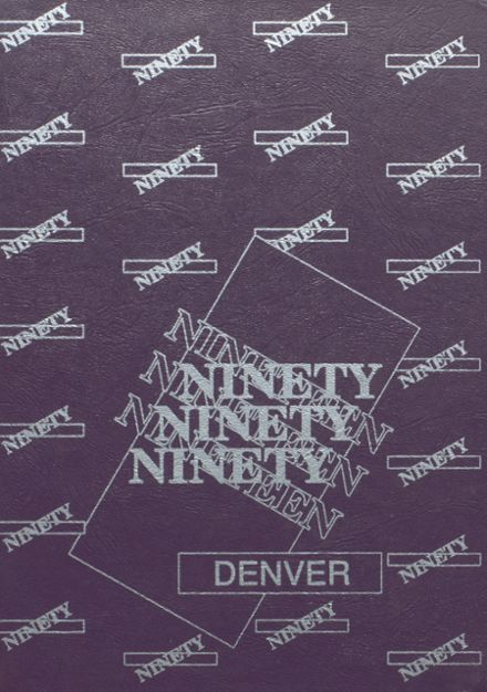 1990 Denver High School Yearbook Cover