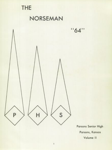 1964 Parsons High School Yearbook Page 5