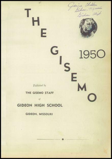 1950 Gideon High School Yearbook Page 5