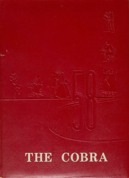 1958 Shedd High School Yearbook Cover