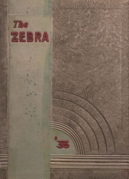 1933 Pine Bluff High School Yearbook Cover
