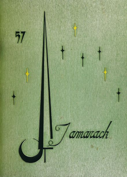 1957 North Central High School Yearbook Cover