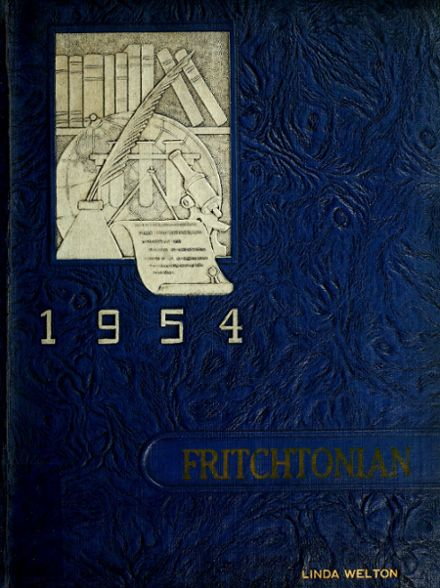 1954 Fritchton High School Yearbook Cover